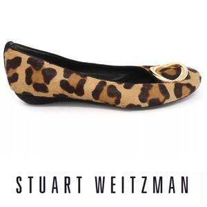 💕SALE💕 Stuart Weitzman Calf Hair Leopard Flats